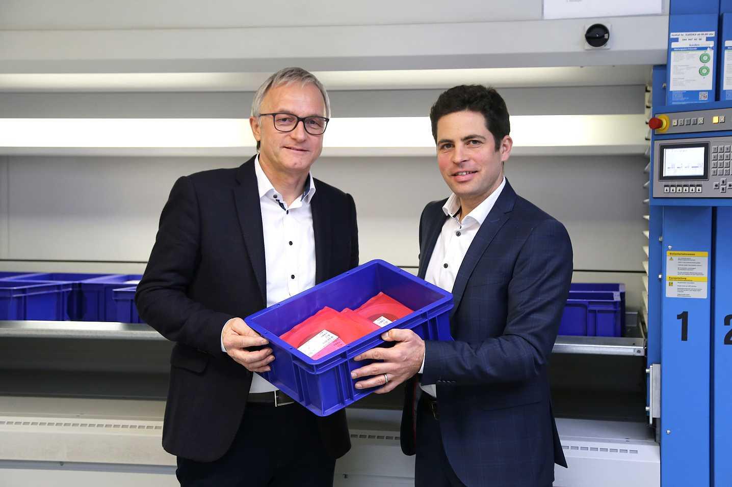 Peter Galliker (CEO Galliker Transport AG)/Christian Holzgang (CEO SCHURTER AG)